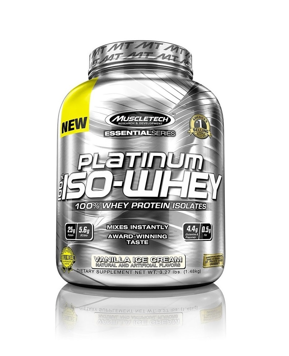 Sport nutrition | MuscleTech™ Platinum 100% ISO-WHEY 3.27 Lbs