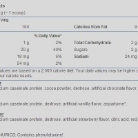 casein supplement facts